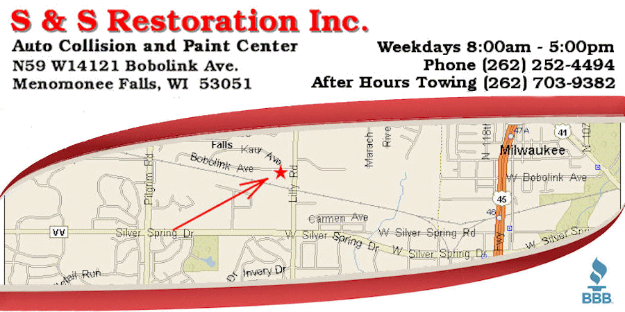 Directions to Falls Auto Body
